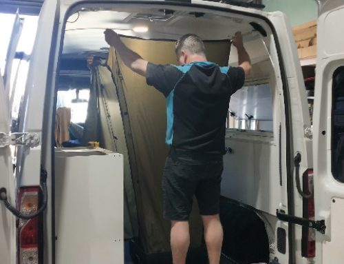 Building the new EverShower camper van